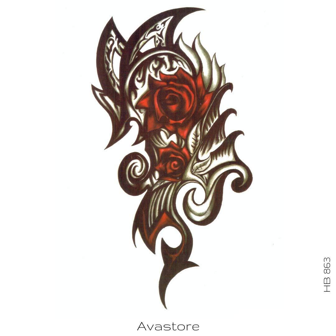 Avastore - Tatuaje temporario rosa dragón tatuaje efímero rosa ...