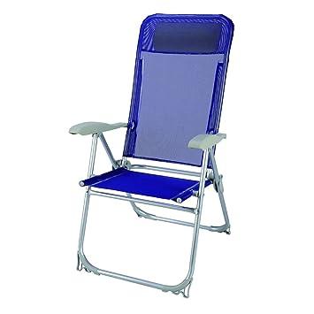 Papillon 8044204 Silla Playa Aluminio Atokos 5 Posiciones Azul