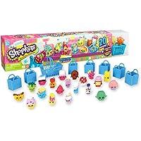 Shopkins Season 1 Mega Pack Bundle of 20 Shopkins 6 Shopping Bags 1 Shopping Basket and 1 Collectors Guide