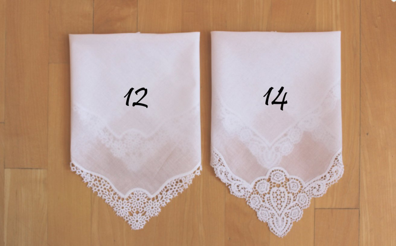 G-40 PRINTED Wedding Handkerchief Sister Bridesmaid Gift handkerchief from the Bride CUSTOMIZED Sisters of the Bride-LS5LeCAC