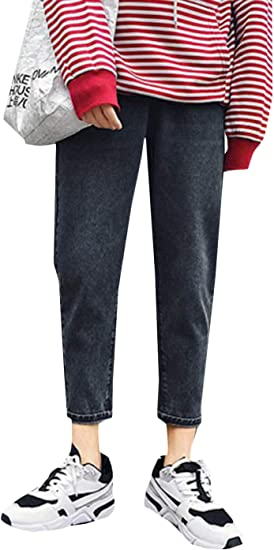 BeiBang(バイバン)デニムパンツ メンズ ダメージ加工 ジーンズ ゆったり ストレートパンツ ワイド オシャレ Gパン 韓国ファッション 春 夏 ジーパン カジュアル ストリート系 ズボン デニム