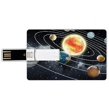 32GB Forma de tarjeta de crédito de unidades flash USB Espacio ...