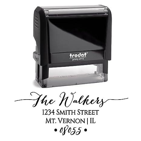 amazon com personalized self inking stamp return address stamp
