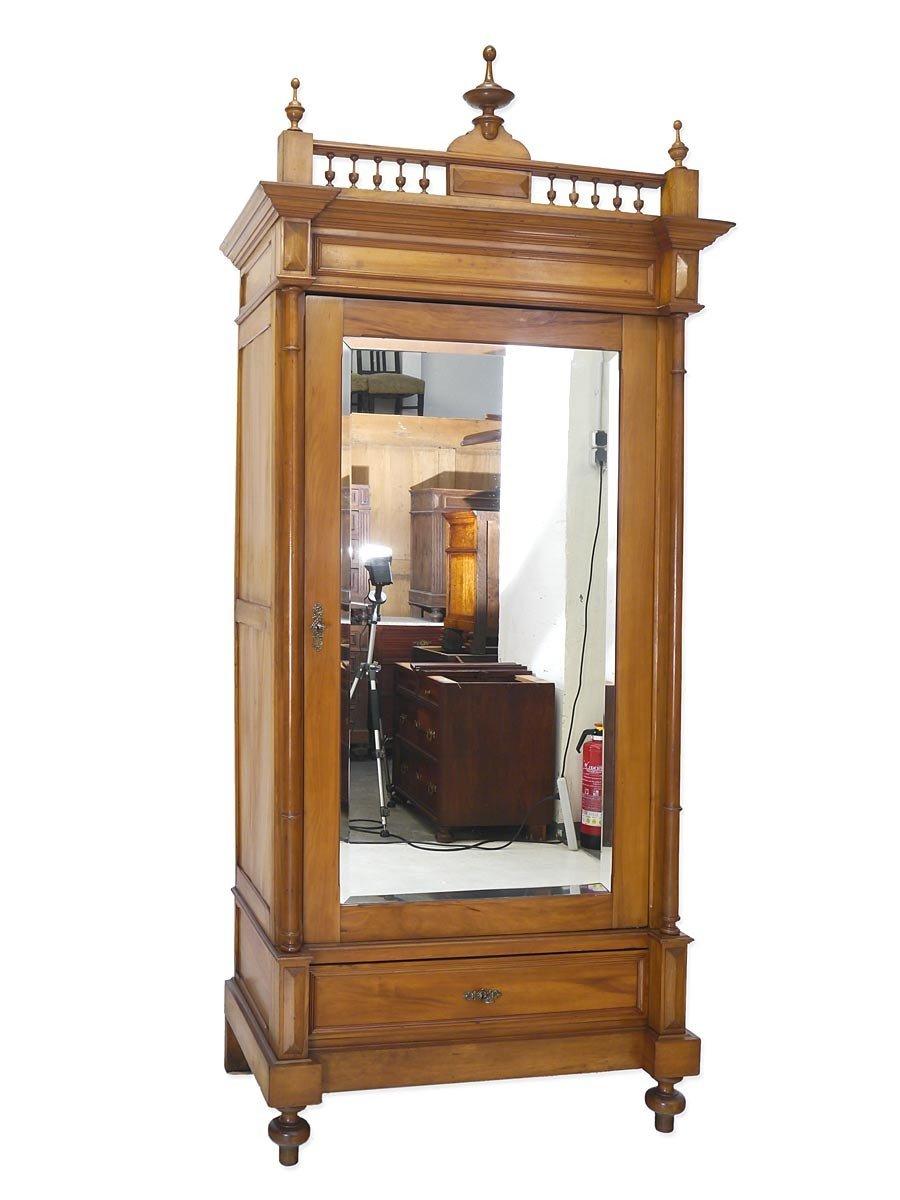 Antiker Schrank um 1880 1-türig Nussbaum B 110 cm jetzt bestellen