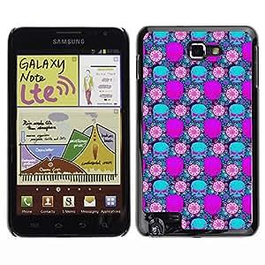 ZECASE Funda Carcasa Tapa Case Cover Para Samsung Galaxy Note I9220 No.0002312