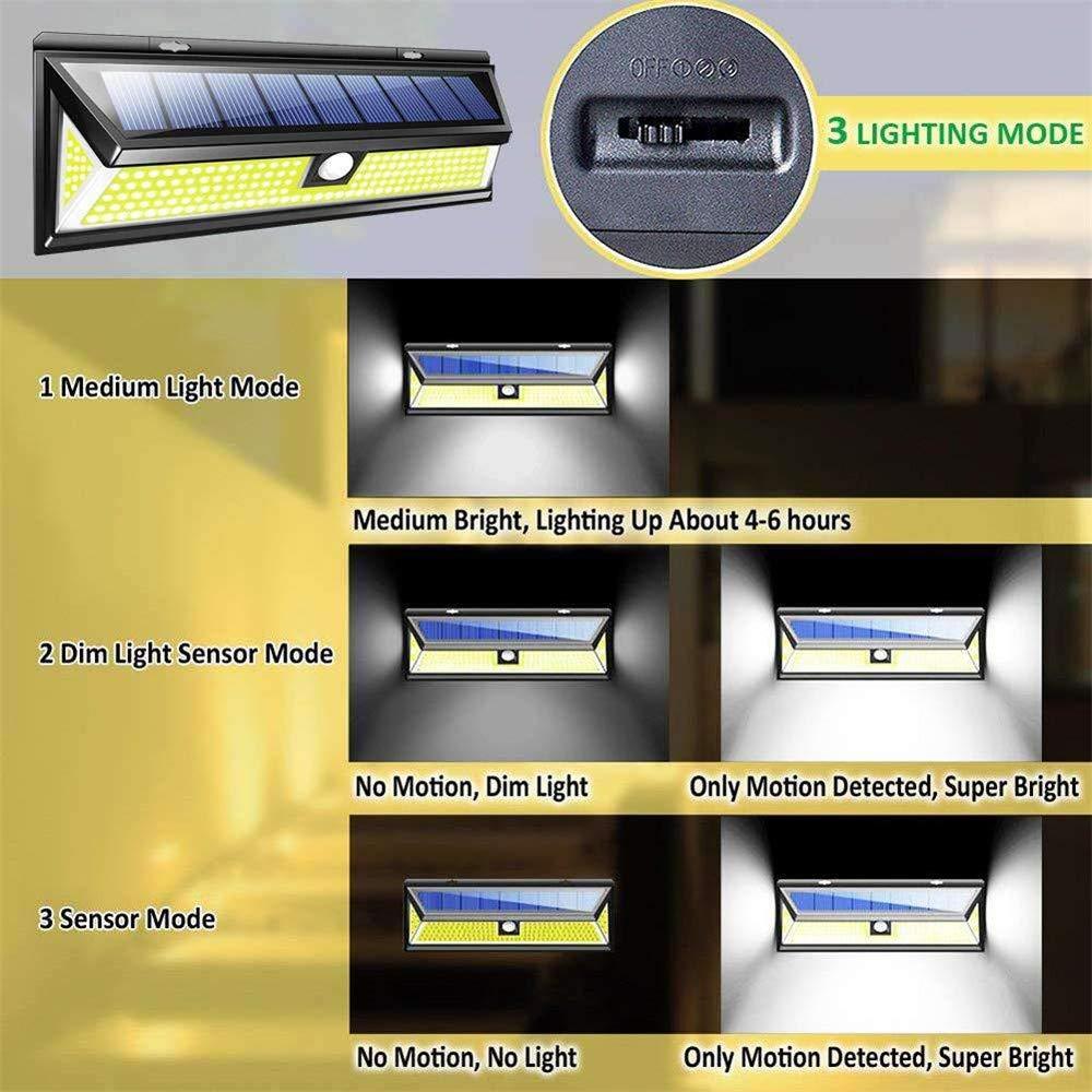 Solar Lights Outdoor, Businda Aluminum Alloy 120° Infrared Solar Lights Wireless Motion Sensor Outdoor Light Waterproof IP65 Security Lights for Front Door, Yard, Garage, Deck by Businda (Image #6)