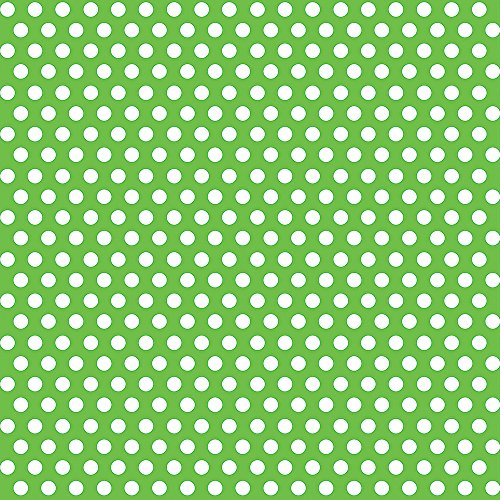Lime Green Polka Wrapping Paper