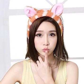 Amazon.com  Brendacosmetic Cat Ears Headband Makeup Hair Band Face ... 54f1c0416ee