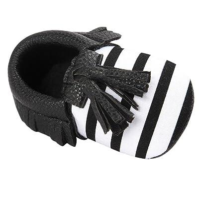 2f5eaf10ded9b LuckyGirls Été enfant Gland Semelle Molle Sandales Chaussures de Fille  Sneakers Anti-Dérapantes pour Bébés- Faux Cuir - 0~18 Mois