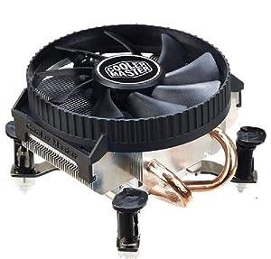 Cooler Master V200 2 Copper Heatpipes CPU Cooler for Intel 775 115X M-ATX CPU Radiator 90mm 3pin Cooling CPU Fan PC Quiet