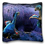 """Custom ( Animal Dinosaur ) Pillowcase Standard Size 16""""X16"""" Design Pillow Case Cover suitable for King-bed PC-Red-2686"""