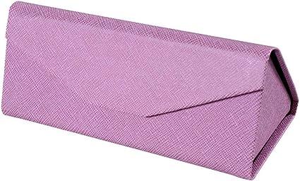 QSFGHJKUV Estuche de lápices Estuche para lentes Caja de 9 piezas Nueva caja de gafas hecha a mano Caja hecha a mano Caja de gafas plegable de triángulo al por mayor, Rosa: