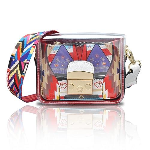 ba25c0720032 Yoome Cartoon Contrast Color Flap Jelly Bag Transparent Beach Belt New Chic Crossbody  Bags - White