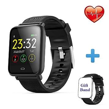 Montre Connectée Bracelet Connecté Cardio Podometre Homme Femme Smartwatch Etanche IP67 Fitness Tracker dActivité