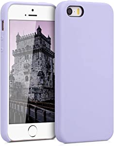 kwmobile TPU Silicone Case Compatible with Apple iPhone SE (1.Gen 2016) / 5 / 5S - Case Slim Protective Phone Cover with Soft Finish - Light Lavender