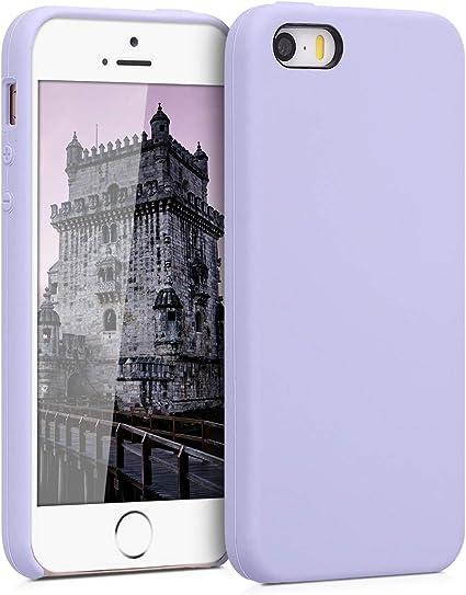 kwmobile Coque Compatible avec Apple iPhone Se (1.Gen 2016) / 5 / 5S - Coque Étui Silicone - Housse de téléphone Violet Pastel