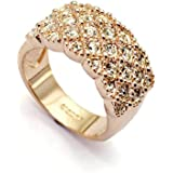 18ct Gold Finish Ring with Swarovski Elements