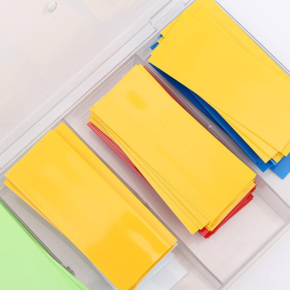 8 colori /¦ /µ18 29,5 mm guaine termorestringenti per cavi 1,5 mm per batterie 18650 18500 Dealglad /® 280 pezzi in PVC