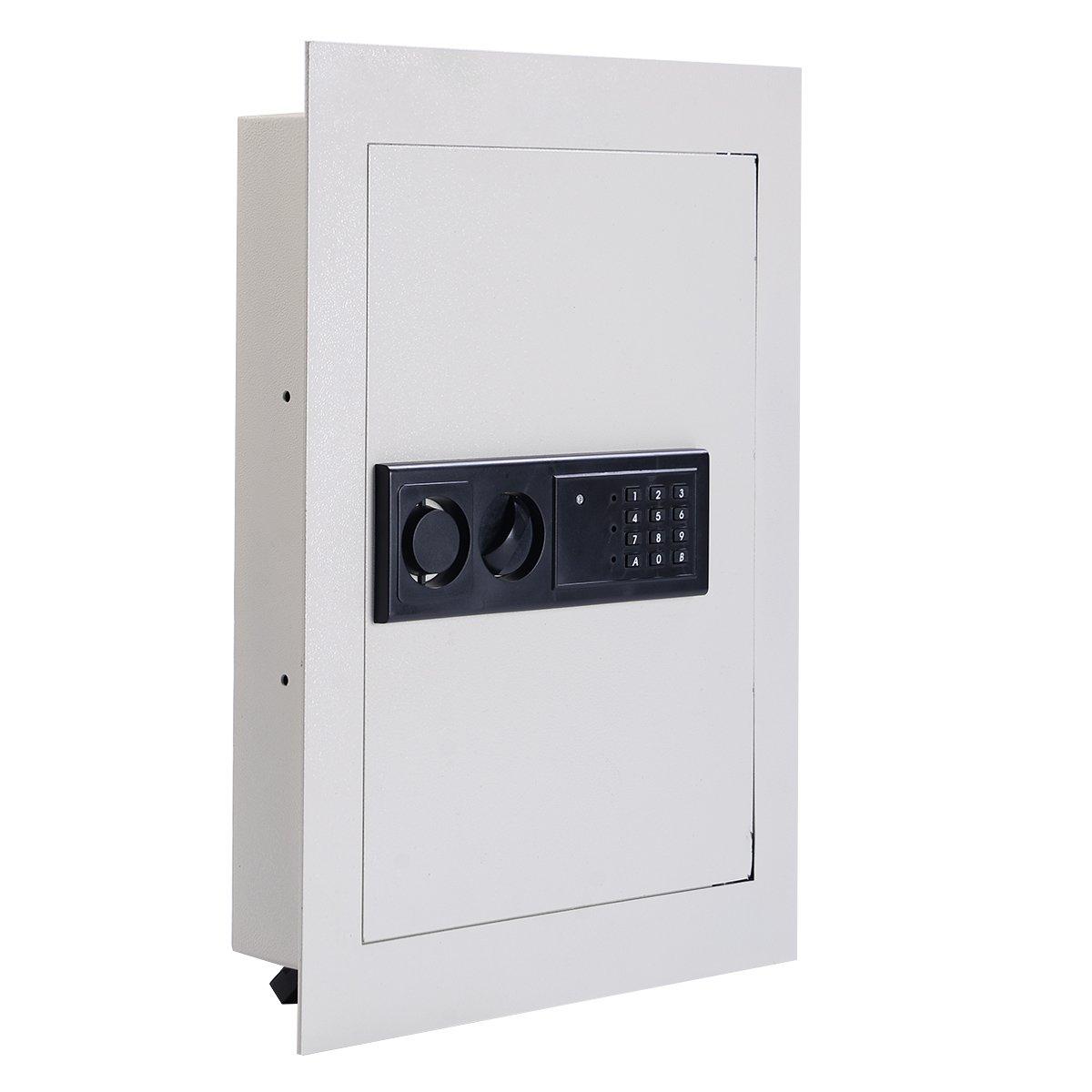Giantex Electronic Wall Hidden Safe Security Box.83 CF Built-in Wall Electronic Flat Security Safety Cabinet by Giantex