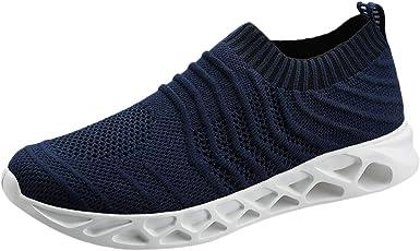 Zapatillas de Running para Hombre Aire Libre y Deporte Transpirables Moda Casual Comodo Talla Grande Zapatos Gimnasio Correr Ligero Sneakers Transpirable Zapatos para Correr vpass: Amazon.es: Ropa y accesorios
