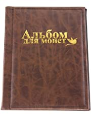 Coin Album, Small Collectors Coin Book Holder 250 Pockets 10 Pages Collection Storage for Medallions, Badges