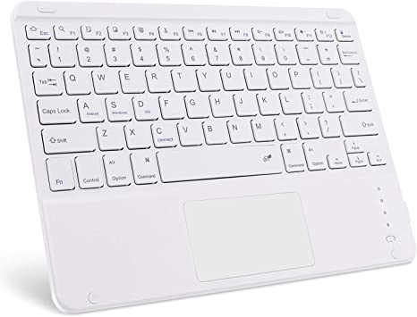 GOOJODOQ Teclado Bluetooth Touchpad, teclado inalámbrico portátil ultrafino Bluetooth 3.0 aplicado a iOS (13 o superior)/tabletas Android Smartphones