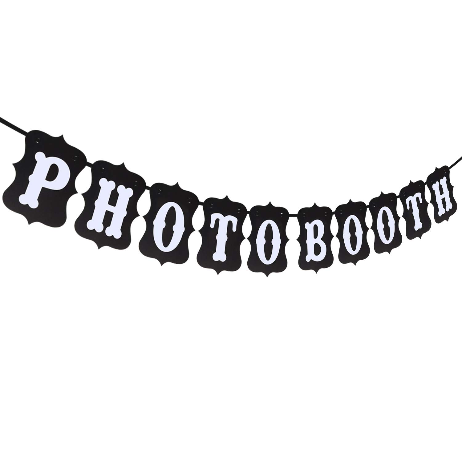 Pixnor Reusable Wedding Bunting Banner Photo Booth Garland Props Free Shipping