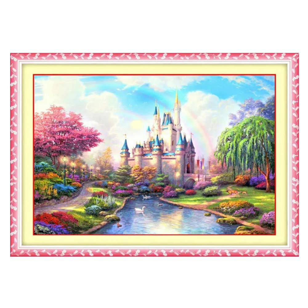 Cross stitch, cartoon, rainbow castle, children, P0017 YanFa Cross stitch