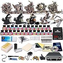 Starter Complete Tattoo Kit 9 Machine Gun Power Supply 50 Needles Ink Set D23