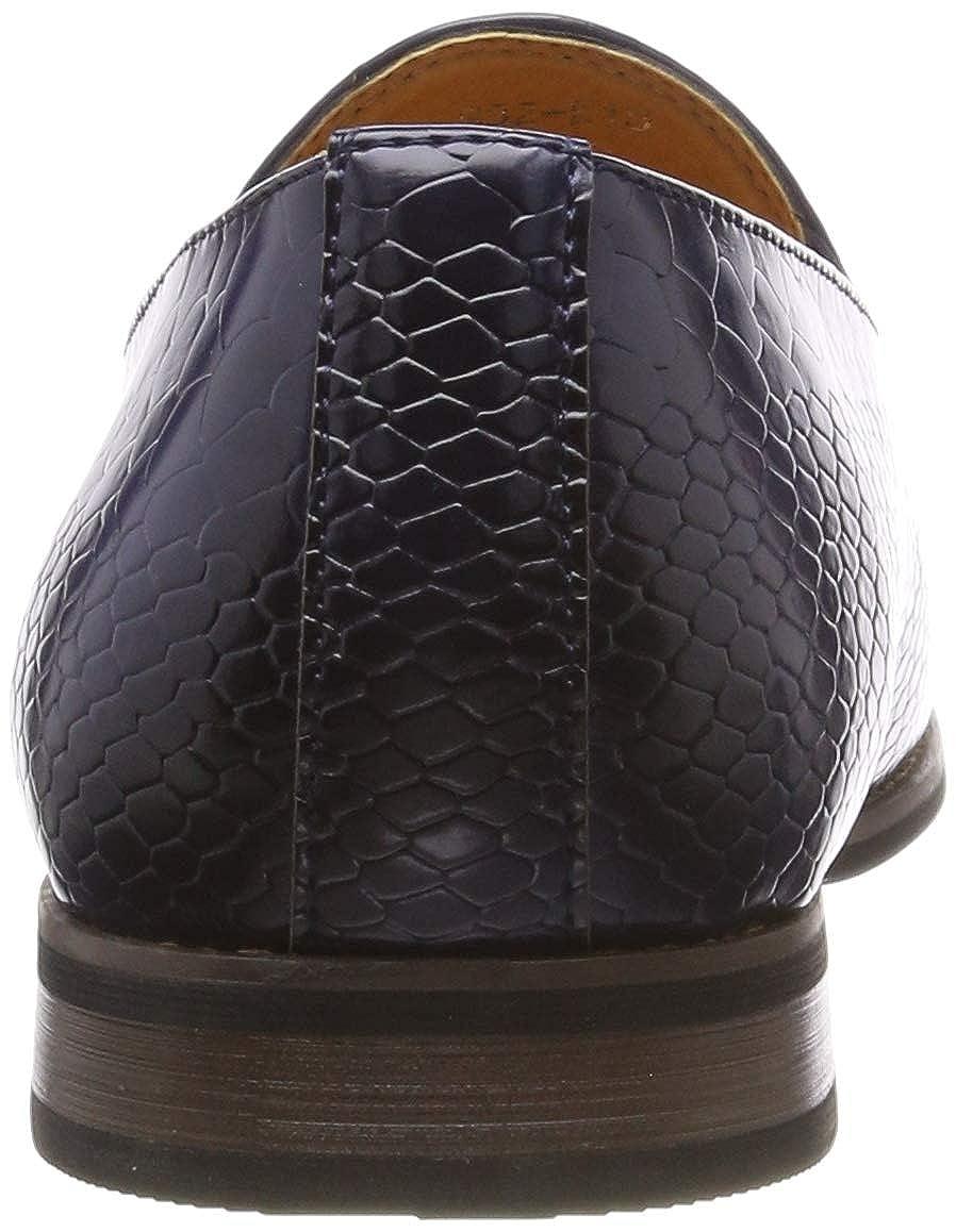 style d/écontract/é r/étro Mocassin vintage imprim/é peau de serpent en cuir verni avec pampilles