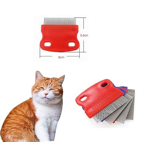 DLD Mascotas Peine de Pelo de Gatos de hundewelpen, el Kleine Fina de Acero de