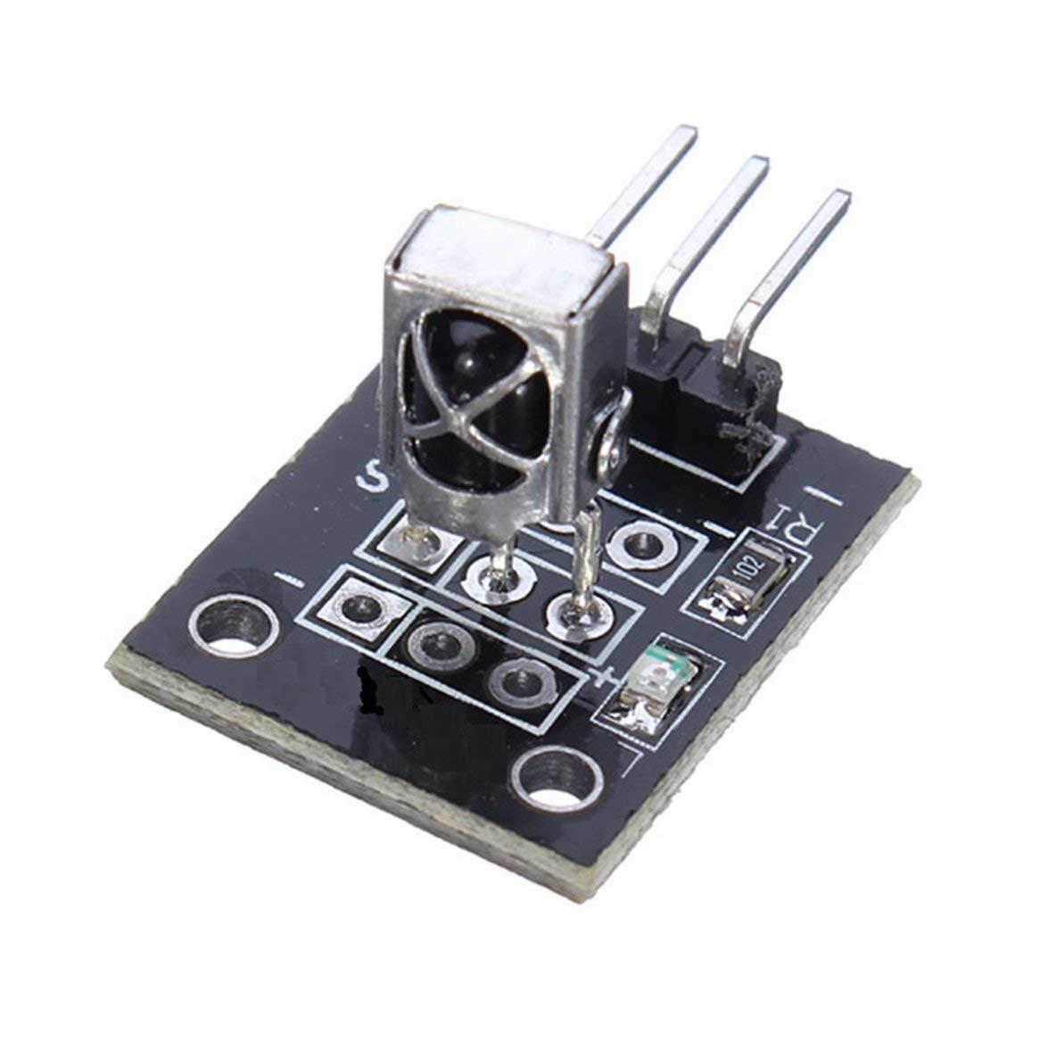Kongqiabona 5PCS KY-022 37.9KHz Infrared IR Sensor Receiver Module For Arduino AVR PIC TW