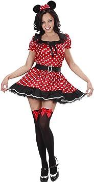 Disfraz para mujer de Minnie Mouse de Disney con vestido de lunares