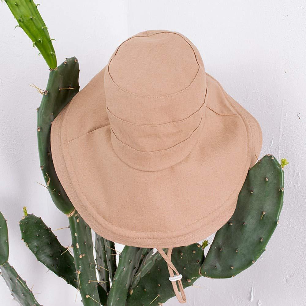 JHZYFM Sombrero De Pescador Sombrero De Verano para Mujer Plegable ...