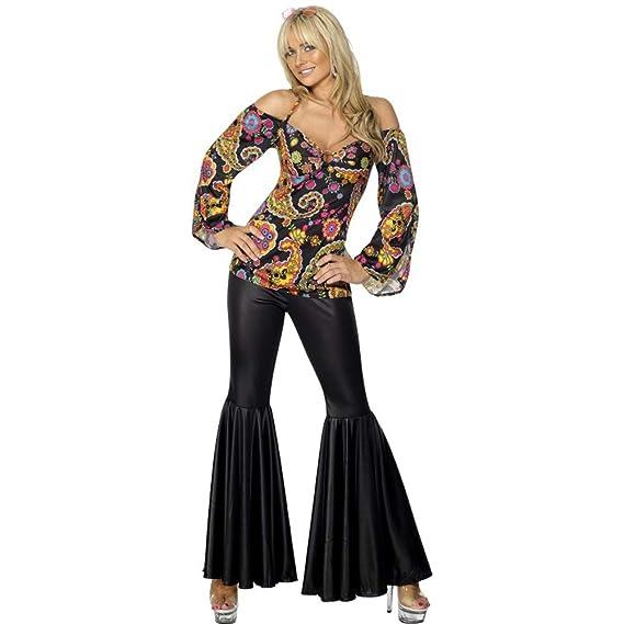 Disfraz de hippie Johana para mujer - XL: Smiffys: Amazon.es ...