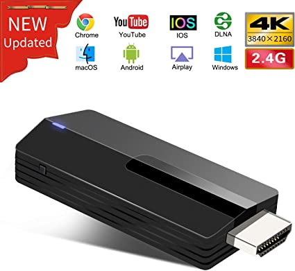 Miracast Dongle Display Wireless Display Dongle Mac Windows Adattatore Dual Core WiFi HDMI Supporto DLNA Airplay Mirror Google Chromecast /& Netflix per iOS Android