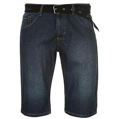 c4cbbc811d Pierre Cardin Hombre Pantalones Cortos Longitud de la Rodilla Cinturón  Tejido de Lona  Amazon.es  Ropa y accesorios