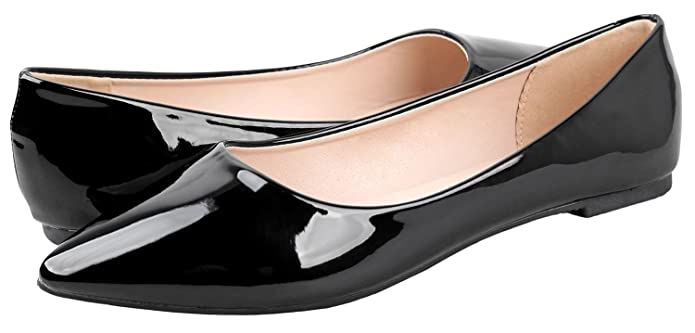 Retro Vintage Flats and Low Heel Shoes Bella Marie Angie-53 Womens Classic Pointy Toe Ballet Slip On Flats Shoes $34.99 AT vintagedancer.com