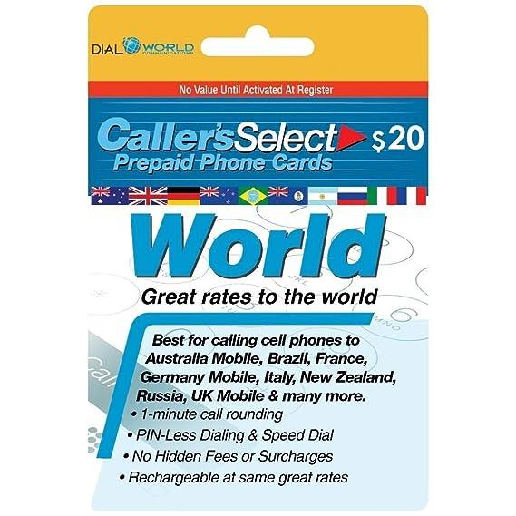 Amazon.com: Callers Select Mundo Prepago de tarjeta teléfono ...
