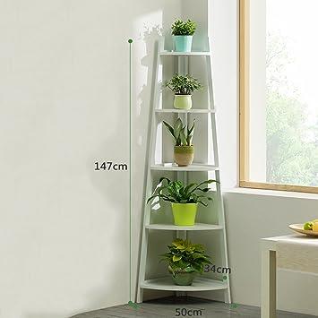 Wghhjz Blumen-Regal-Balkon-Küchen-Badezimmer-Wohnzimmer ...