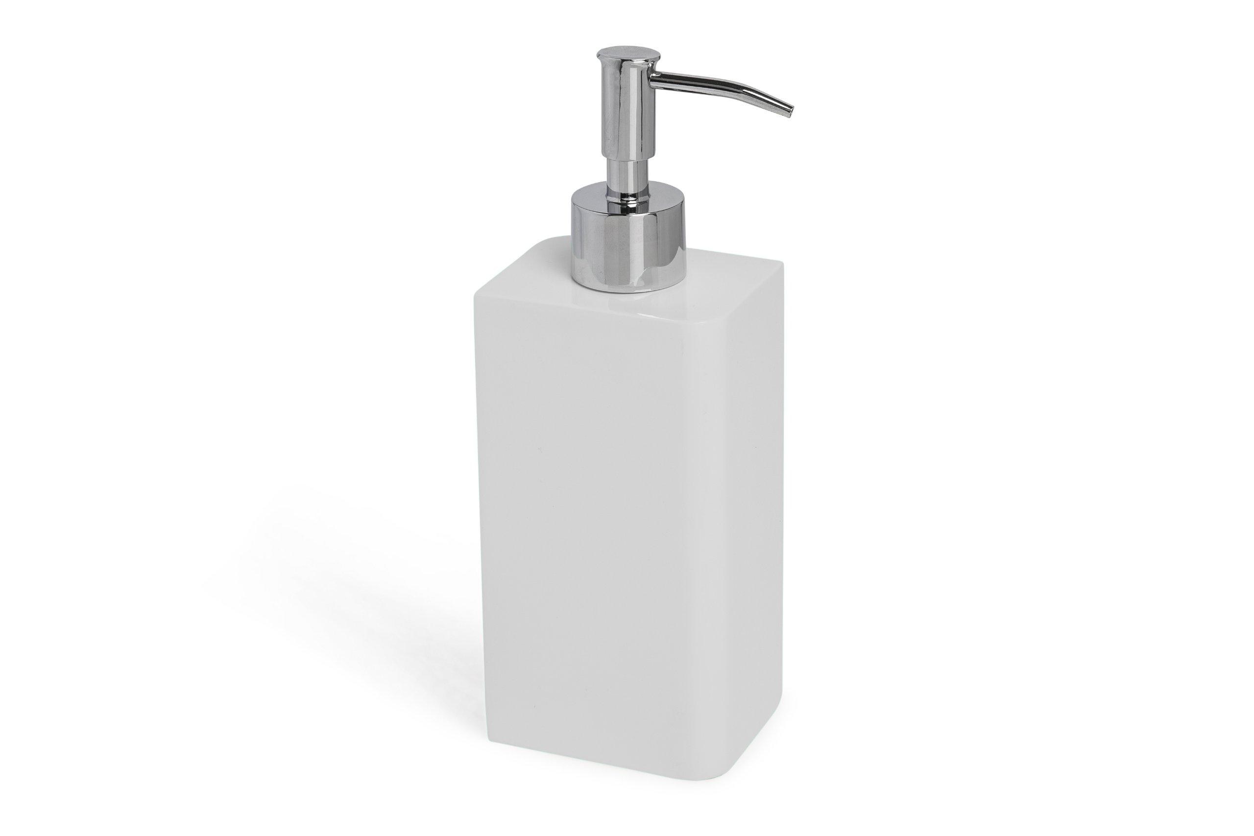 Kassatex Lacca Lotion Dispenser, White by Kassatex