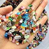 TR318 Brand Pebble Gravel for Fish Turtle Tank Landscape bottom decoration Colorful opal glass Sand stone rocks glass ornament for Fantastic Garden or Yard (Colorful)