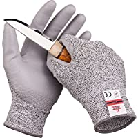 SafeAt Safety Flex Coated Work Gloves – High Dexterity, Protective, Cut Resistant, Comfortable Firm Grip PU Palm.