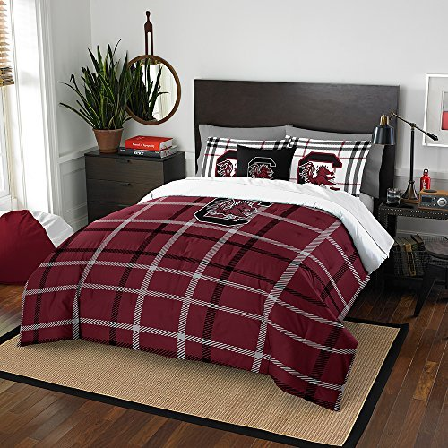 NCAA South Carolina Fighting Gamecocks Nor-1Col836000042Bbb 76'' x 86 South Carolina Gamecocks Full Comforter Set, Soft & Cozy by Northwest