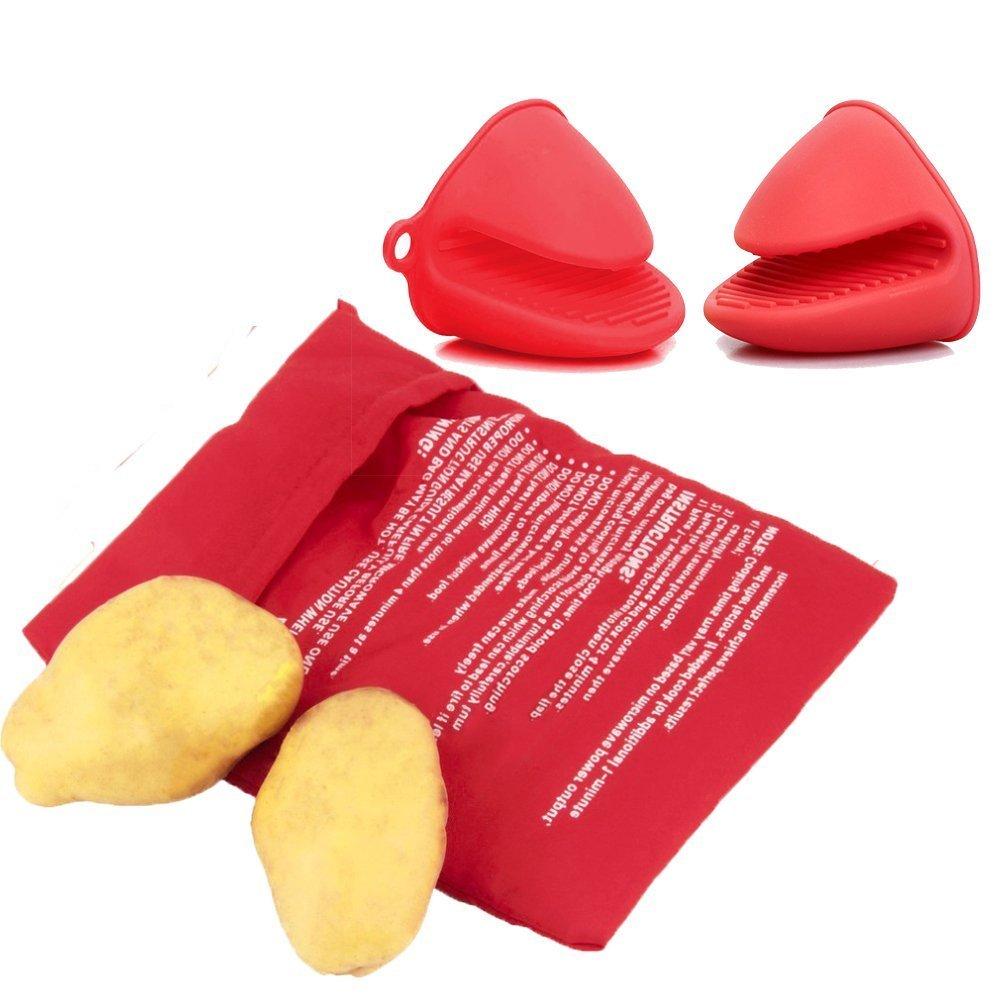 zaquarius 2 pcs microondas bolsa de patatas y silicona Pot Holder ...