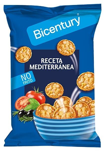Bicentury - Mini tortitas - Producto de Aperitivo con Sabor Mediterráneo a Base de Cereales -