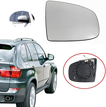 Fits BMW X5 X6 E70 E71 E72 2008-2014 Left Side Heated Wing Mirror White Glass