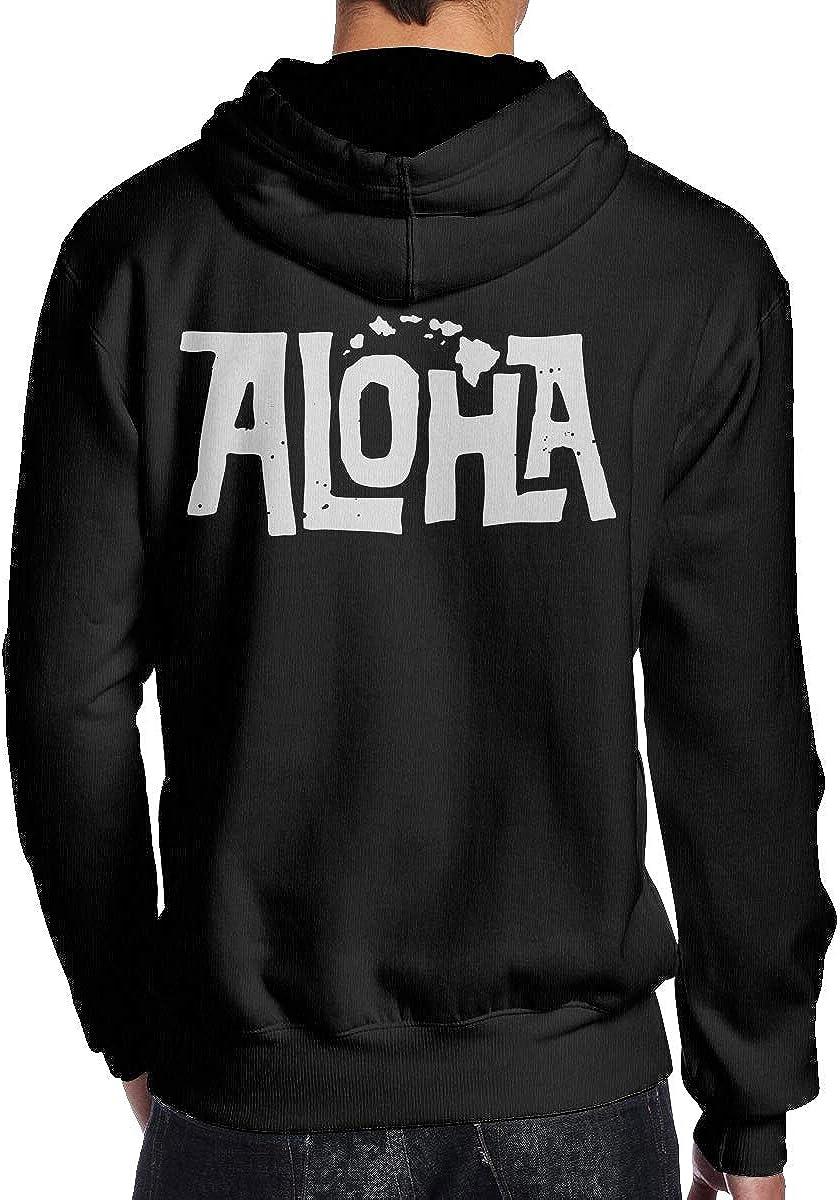 Aloha Hawaiian Map Mens Hoodie Hooded Sweatshirt