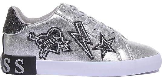 Dettagli su Scarpe donna Guess sneaker mod. Path in ecopelle colore bianco D20GU40