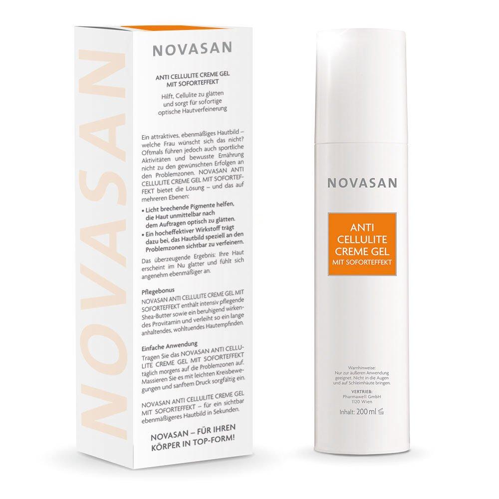 Novasan Anti Cellulite Creme Gel Mit Soforteffekt Hochwertiges